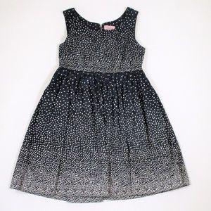 Darling Brand Modcloth L Fit Flare Dress Polka Dot